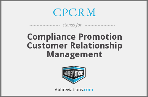 What does CPCRM stand for?