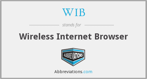 WIB - Wireless Internet Browser
