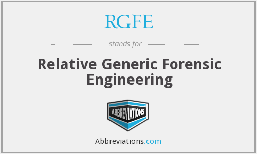 What does RGFE stand for?