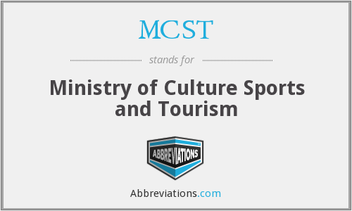 MCST - Ministry of Culture Sports and Tourism