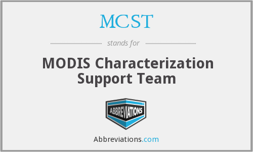 MCST - MODIS Characterization Support Team
