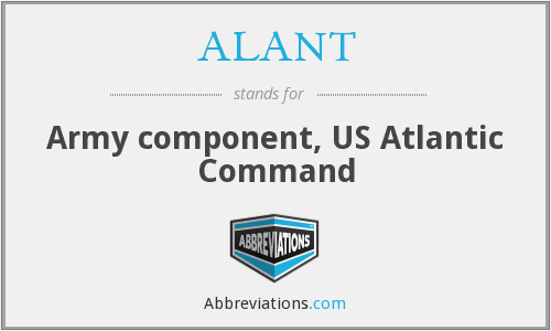 What does ALANT stand for?