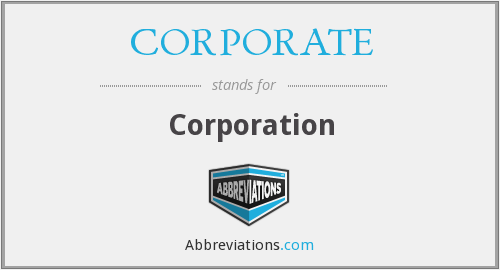 What does CORPORATE stand for?