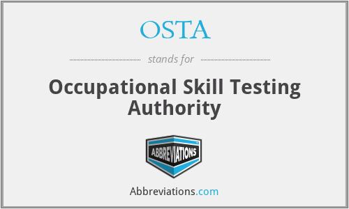 OSTA - Occupational Skill Testing Authority