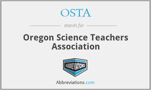 OSTA - Oregon Science Teachers Association