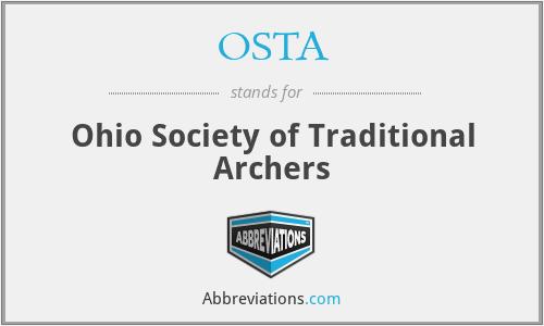 OSTA - Ohio Society of Traditional Archers