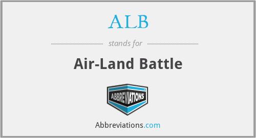 ALB - Air-Land Battle
