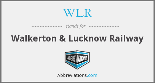 What does WLR stand for?