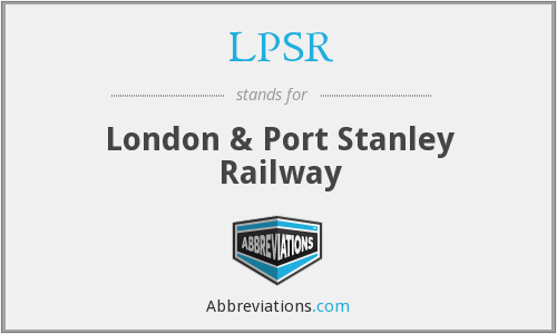 LPSR - London & Port Stanley Railway