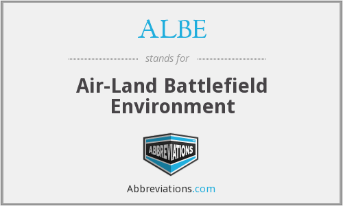 ALBE - Air Land Battlefield Environment