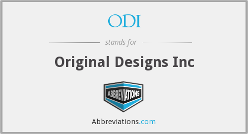 ODI - Original Designs Inc