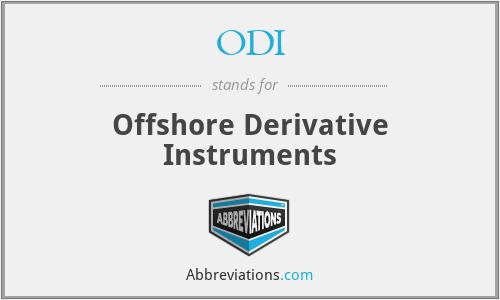 ODI - Offshore Derivative Instruments