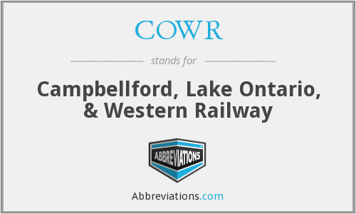 COWR - Campbellford, Lake Ontario, & Western Railway