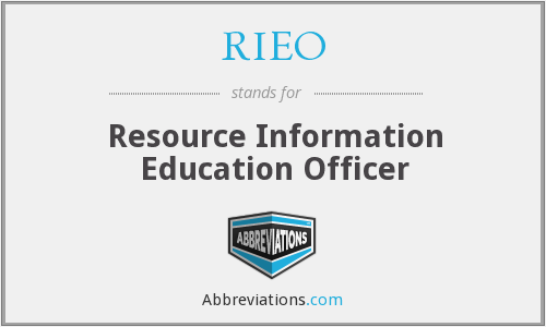 What does RIEO stand for?