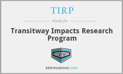 TIRP - Transitway Impacts Research Program