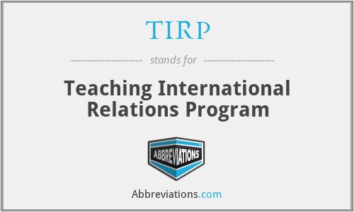 TIRP - Teaching International Relations Program