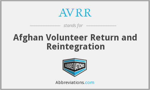 What does AVRR stand for?
