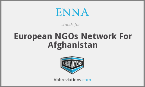 ENNA - European NGOs Network For Afghanistan