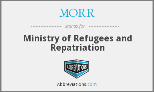 MORR - Ministry of Refugees and Repatriation