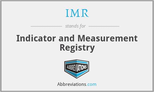 IMR - Indicator and Measurement Registry