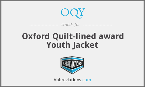 OQY - Oxford Quilt-lined award Youth Jacket