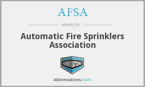 What does sprinklers stand for?