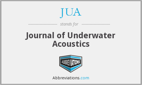 JUA - Journal of Underwater Acoustics