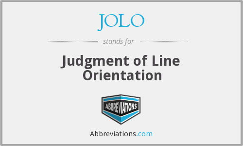 JOLO - Judgment of Line Orientation