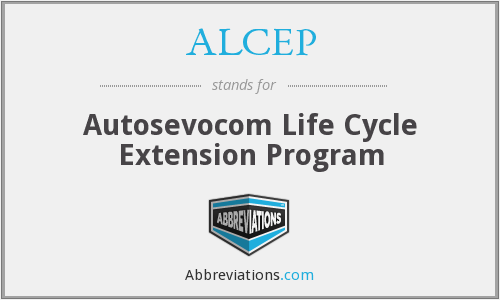 ALCEP - Autosevocom Life Cycle Extension Program