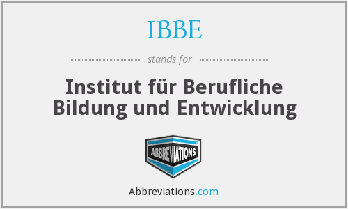 What does IBBE stand for?
