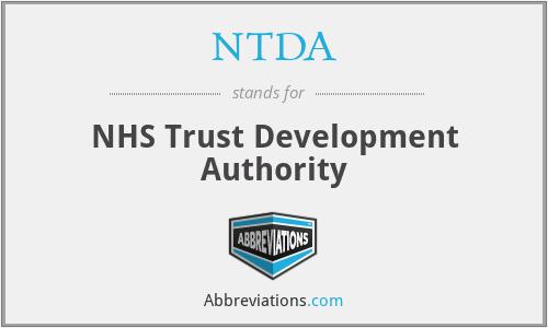 NTDA - NHS Trust Development Authority
