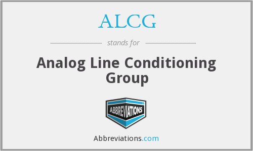 What does ALCG stand for?
