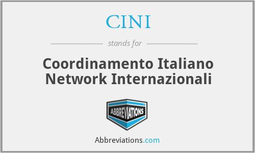 CINI - Coordinamento Italiano Network Internazionali