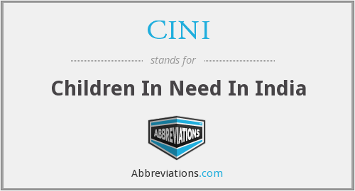 CINI - Children In Need In India