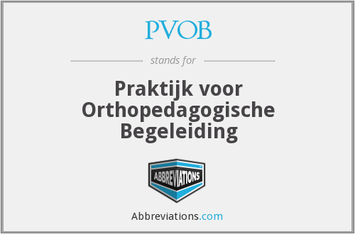 What does PVOB stand for?