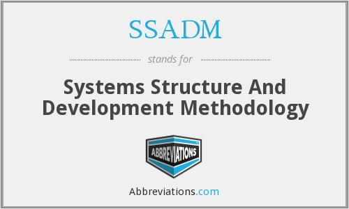 SSADM - Systems Structure And Development Methodology
