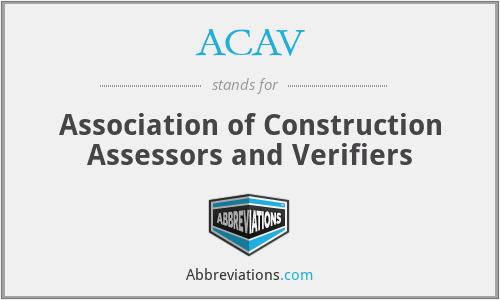 ACAV - Association of Construction Assessors and Verifiers