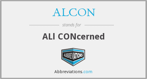 What does ALCON stand for?