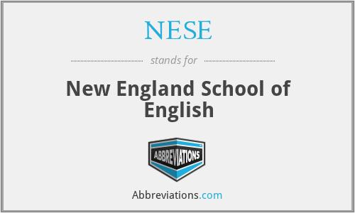 NESE - New England School of English