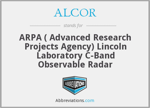 What does ALCOR stand for?