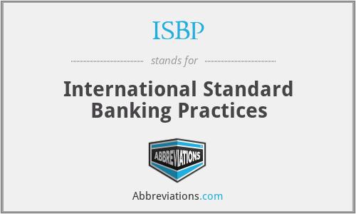 ISBP - International Standard Banking Practices