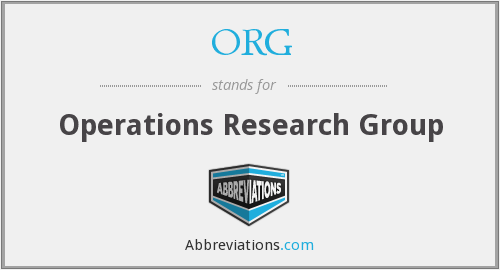 ORG - Operations Research Group