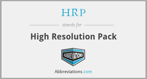 HRP - High Resolution Pack