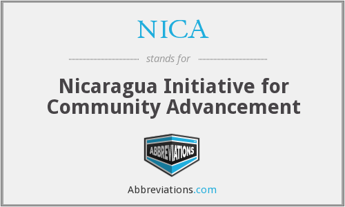 NICA - Nicaragua Initiative for Community Advancement