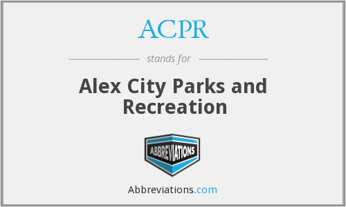 ACPR - Alex City Parks and Recreation