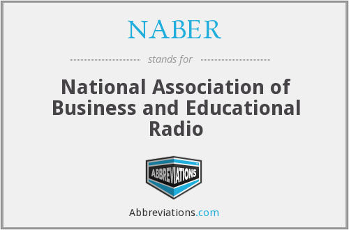What does NABER stand for?