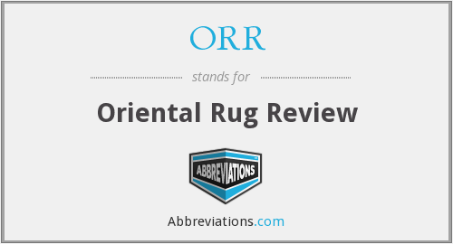 ORR - Oriental Rug Review