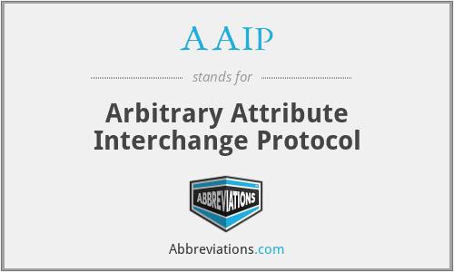AAIP - Arbitrary Attribute Interchange Protocol