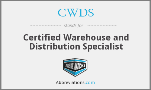 CWDS - Certified Warehouse and Distribution Specialist