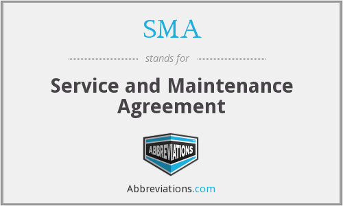 SMA - Service and Maintenance Agreement